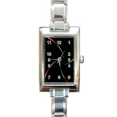 Digital Computer Graphic Rectangle Italian Charm Watch