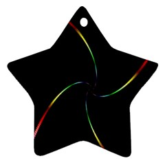 Digital Computer Graphic Star Ornament (Two Sides)