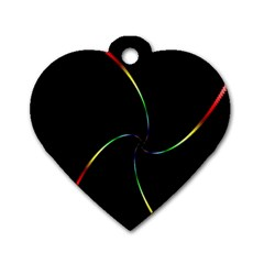 Digital Computer Graphic Dog Tag Heart (Two Sides)