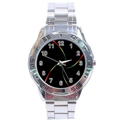 Digital Computer Graphic Stainless Steel Analogue Watch