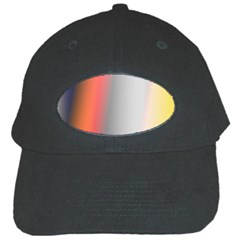 Digitally Created Abstract Colour Blur Background Black Cap