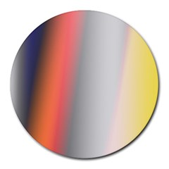 Digitally Created Abstract Colour Blur Background Round Mousepads