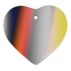 Digitally Created Abstract Colour Blur Background Ornament (heart)