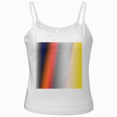 Digitally Created Abstract Colour Blur Background White Spaghetti Tank