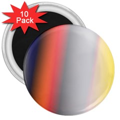 Digitally Created Abstract Colour Blur Background 3  Magnets (10 pack)