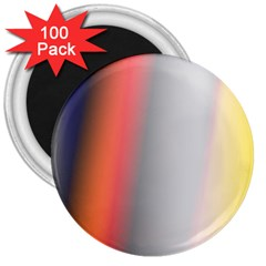Digitally Created Abstract Colour Blur Background 3  Magnets (100 pack)