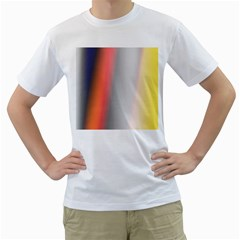 Digitally Created Abstract Colour Blur Background Men s T-Shirt (White) (Two Sided)