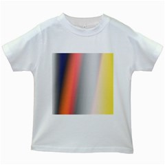 Digitally Created Abstract Colour Blur Background Kids White T-Shirts