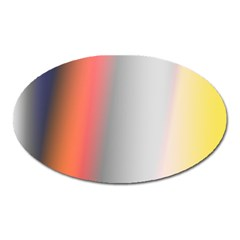 Digitally Created Abstract Colour Blur Background Oval Magnet