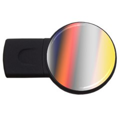 Digitally Created Abstract Colour Blur Background Usb Flash Drive Round (2 Gb)