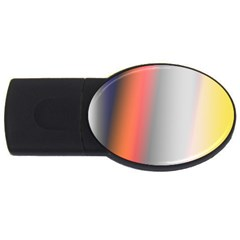 Digitally Created Abstract Colour Blur Background USB Flash Drive Oval (1 GB)
