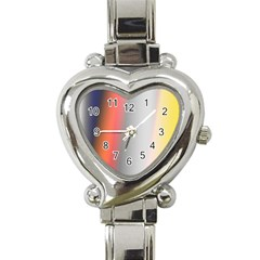 Digitally Created Abstract Colour Blur Background Heart Italian Charm Watch