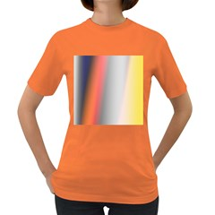 Digitally Created Abstract Colour Blur Background Women s Dark T Shirt