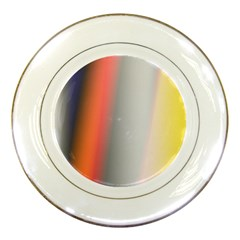 Digitally Created Abstract Colour Blur Background Porcelain Plates