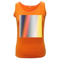 Digitally Created Abstract Colour Blur Background Women s Dark Tank Top