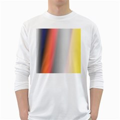 Digitally Created Abstract Colour Blur Background White Long Sleeve T-Shirts