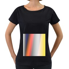 Digitally Created Abstract Colour Blur Background Women s Loose-Fit T-Shirt (Black)