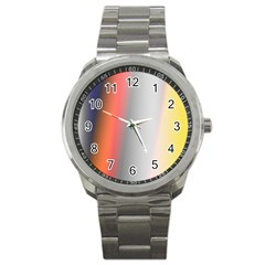 Digitally Created Abstract Colour Blur Background Sport Metal Watch