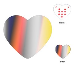 Digitally Created Abstract Colour Blur Background Playing Cards (heart)