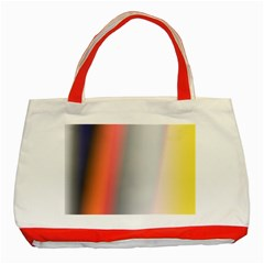 Digitally Created Abstract Colour Blur Background Classic Tote Bag (red)