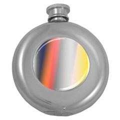 Digitally Created Abstract Colour Blur Background Round Hip Flask (5 oz)