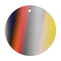 Digitally Created Abstract Colour Blur Background Round Ornament (two Sides)