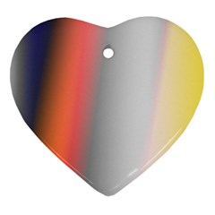 Digitally Created Abstract Colour Blur Background Heart Ornament (two Sides)