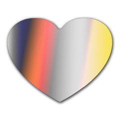 Digitally Created Abstract Colour Blur Background Heart Mousepads