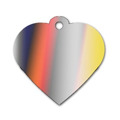 Digitally Created Abstract Colour Blur Background Dog Tag Heart (Two Sides)