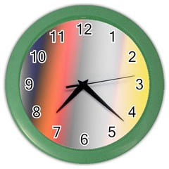 Digitally Created Abstract Colour Blur Background Color Wall Clocks