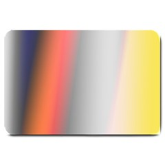 Digitally Created Abstract Colour Blur Background Large Doormat