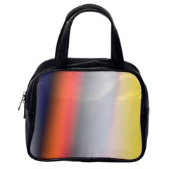 Digitally Created Abstract Colour Blur Background Classic Handbags (one Side)