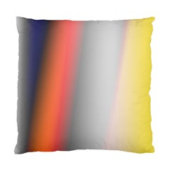 Digitally Created Abstract Colour Blur Background Standard Cushion Case (two Sides)