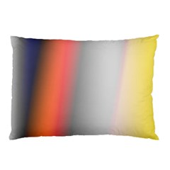 Digitally Created Abstract Colour Blur Background Pillow Case