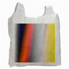 Digitally Created Abstract Colour Blur Background Recycle Bag (Two Side)