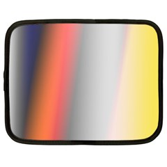 Digitally Created Abstract Colour Blur Background Netbook Case (XL)