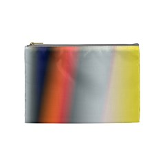 Digitally Created Abstract Colour Blur Background Cosmetic Bag (medium)