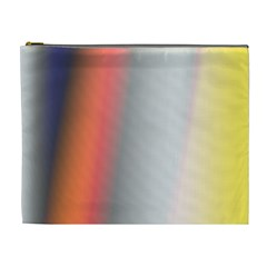 Digitally Created Abstract Colour Blur Background Cosmetic Bag (XL)
