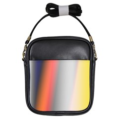 Digitally Created Abstract Colour Blur Background Girls Sling Bags