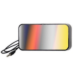 Digitally Created Abstract Colour Blur Background Portable Speaker (Black)