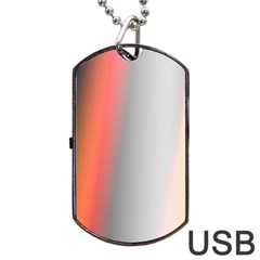 Digitally Created Abstract Colour Blur Background Dog Tag USB Flash (One Side)