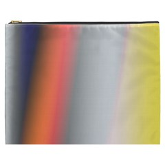 Digitally Created Abstract Colour Blur Background Cosmetic Bag (XXXL)