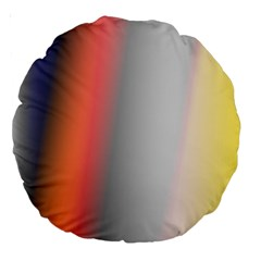 Digitally Created Abstract Colour Blur Background Large 18  Premium Round Cushions