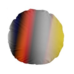 Digitally Created Abstract Colour Blur Background Standard 15  Premium Flano Round Cushions