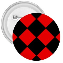 Red Black Square Pattern 3  Buttons