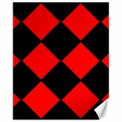 Red Black Square Pattern Canvas 16  X 20