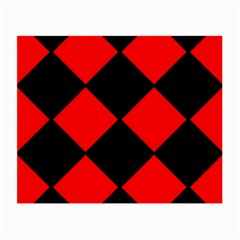 Red Black square Pattern Small Glasses Cloth (2-Side)