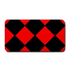 Red Black square Pattern Medium Bar Mats