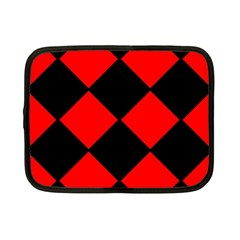 Red Black square Pattern Netbook Case (Small)
