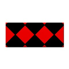 Red Black Square Pattern Cosmetic Storage Cases
